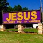 Hawkins Jesus sign