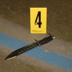knife on the floor