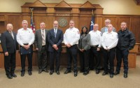 Commissioners And Lindale Fire Dept
