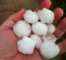 golf bal lsize hail