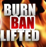 One Area Burn Ban Lifted