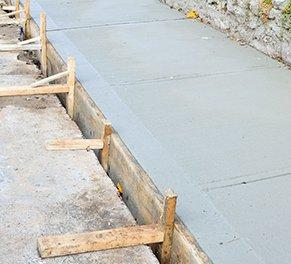 sidewalks being built